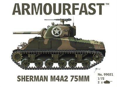 1/72 Sherman M4A2 75mm Tank (2) - Armourfast 99021