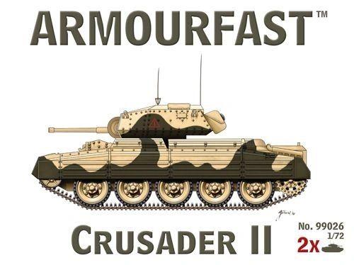 1/72 Cruiser Mk VIA Crusader II Tank (2) - Armourfast 99026