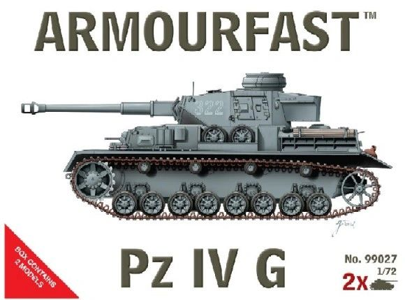 1/72 Pz.Kpfw. IV Ausf.G Tank (2) - Armourfast 99027