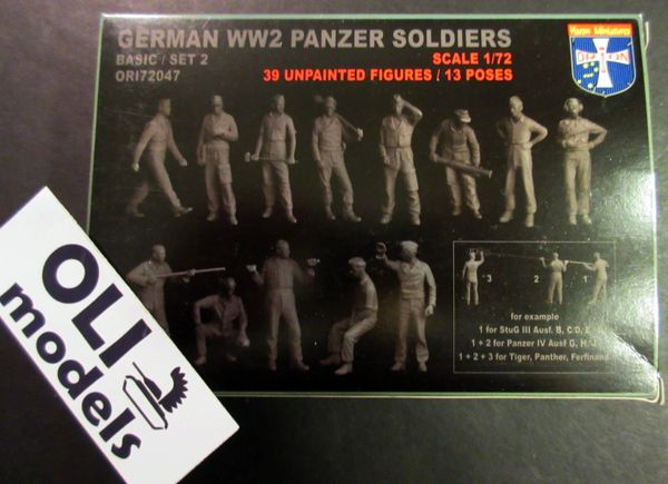 1/72 German WWII Panzer Soldiers Set #2 (39) - Orion 72047