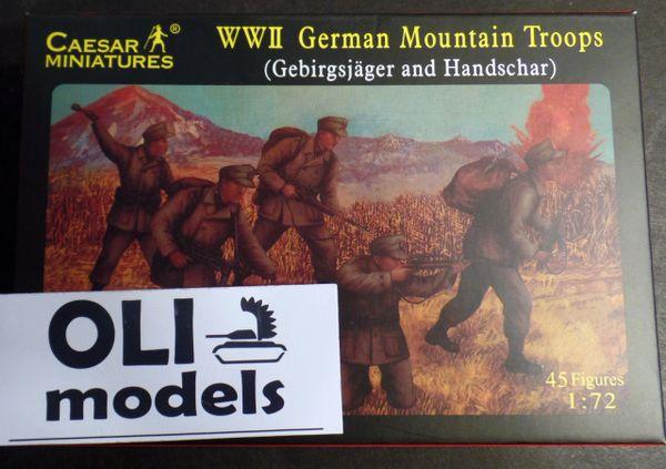1/72 WWII German Mountain Troops: Gebirgsjager & Hanschar Soldiers (45) - Caesar 67
