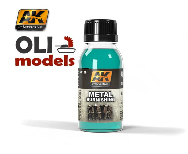 Metal Burnishing Fluid 100ml Bottle - AK Interactive 159