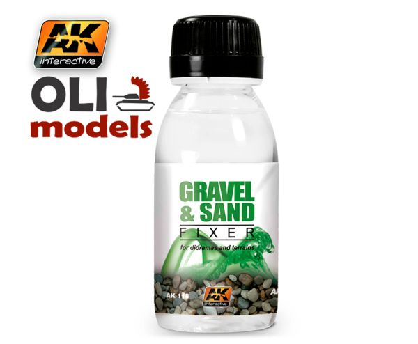 Gravel & Sand Fixer Enamel 100ml Bottle - AK Interactive 118
