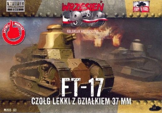 1/72 FT-17 Light Tank w/Round Turret & 37mm Gun - First to Fight 021