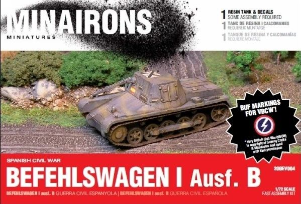 1/72 Spanish Civil War: PzBefehslwagen I B (1) (Resin) - Minairons 7204