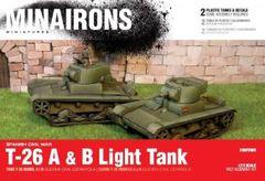 1/72 Spanish Civil War: T26A/B Light Tank (2) (Plastic) - Minairons 7205
