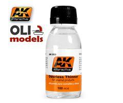 Odorless Enamel Thinner 100ml Bottle - AK Interactive 050