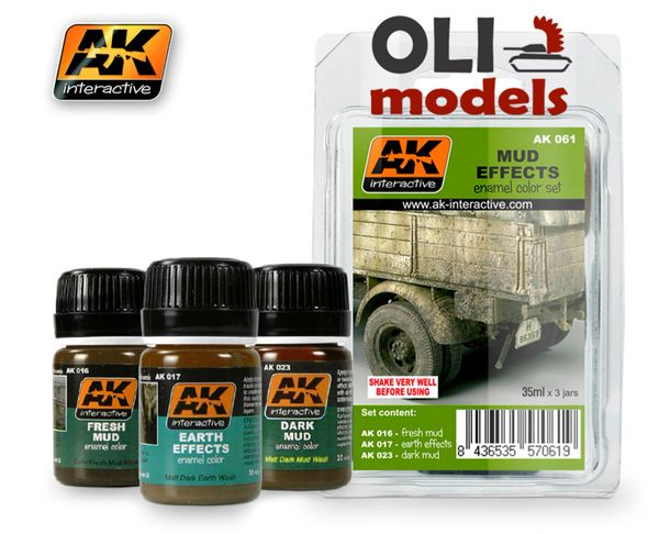 Mud Effects Enamel Paint Set (16, 17, 23) - AK Interactive 61