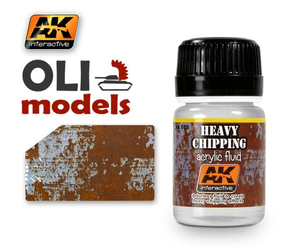 Heavy Chipping Effects Acrylic Fluid 35ml Bottle - AK Interactive 89
