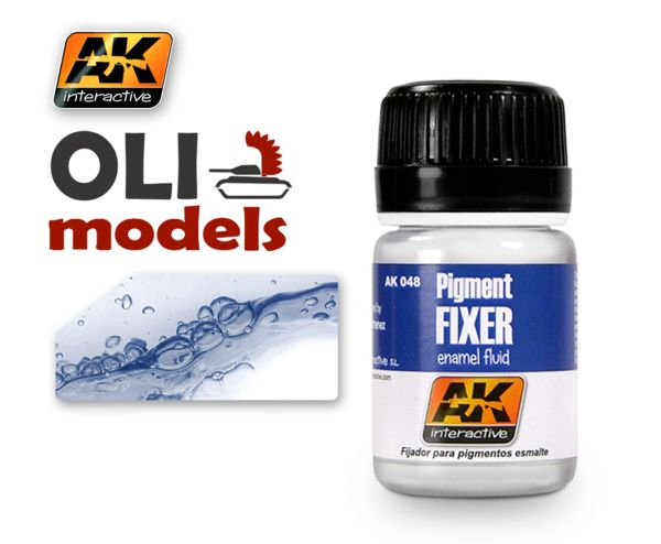 Pigment Fixer Enamel 35ml Bottle - AK Interactive 48