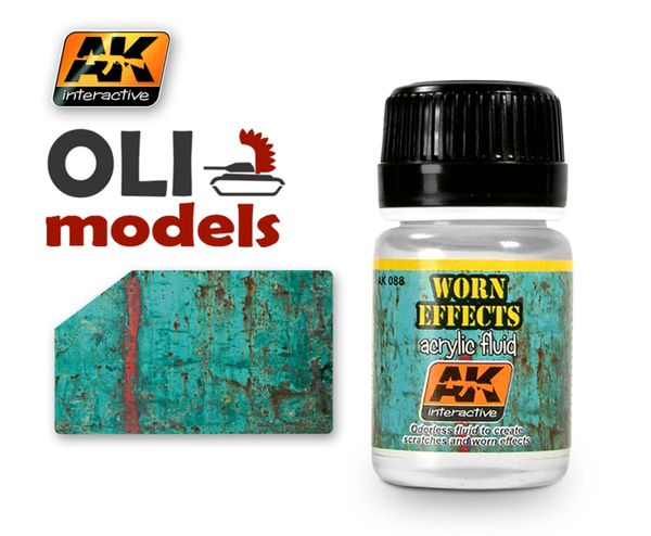 Worn Effects Acrylic Fluid 35ml Bottle - AK Interactive 88