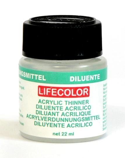 Acrylic Thinner (22ml Bottle) (Old #120) - Lifecolor 2120