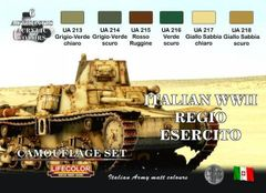 Italian WWII Army Camouflage Acrylic Set (6 22ml Bottles) - Lifecolor CS8