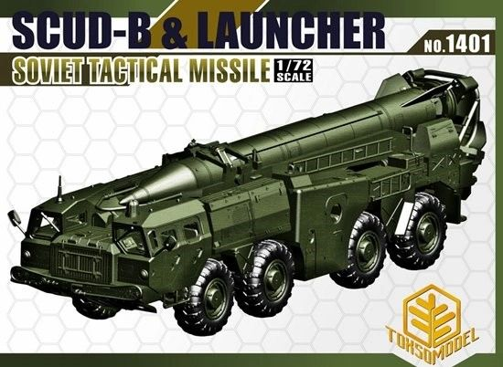 1/72 Scud-B & Launcher Soviet Tactical Missile - TOXSO 1401