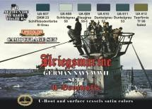 German WWII Kriegsmarine #2 Camouflage Acrylic Set (6 22ml Bottles) - Lifecolor CS12