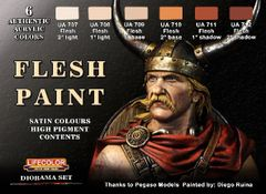 Flesh Tones Diorama Acrylic Set (6 22ml Bottles) - Lifecolor CS13