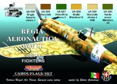 Italian WWII Fighters #1 Camouflage Acrylic Set (6 22ml Bottles) - Lifecolor CS19