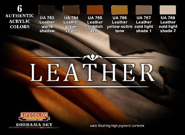 Leather Diorama Acrylic Set (6 22ml Bottles) - Lifecolor CS30
