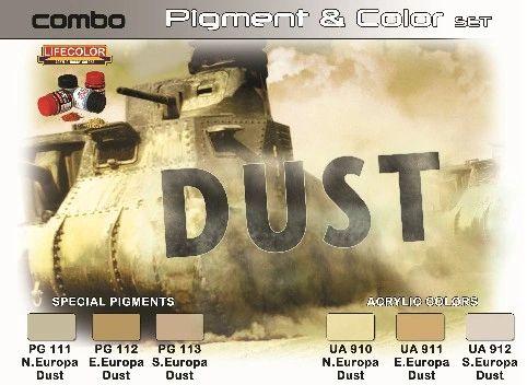 Dust Pigment & Color Acrylic Set (6 22ml Bottles) - Lifecolor SPG4