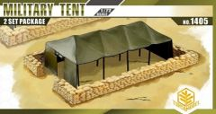 1/72 Military Tent (2) w/Sandbag Walls - TOXSO 1405