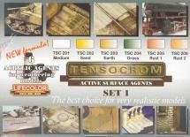 Tensocrom Weathering #1 Acrylic Set (6 22ml Bottles) - Lifecolor TSC1