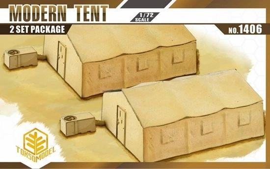 1/72 Modern Tent (2) w/Heater/AC Unit - TOXSO 1406
