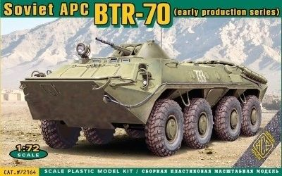 1/72 BTR70 Early Production Soviet Armored Personnel Carrier - ACE 72164