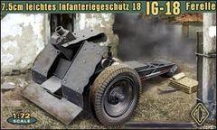 1/72 German 7.5cm Light Infantry IG18 Ferelle Gun - ACE 72224