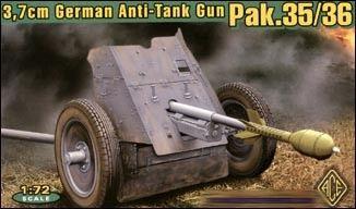 1/72 German 3.7cm Pak 35/36 Anti-Tank Gun - ACE 72241
