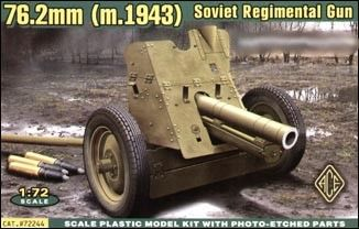 1/72 Soviet 76.2mm Regimental Gun Model 1943 - ACE 72244