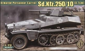 1/72 SdKfz 250/10 (3.7cm) Armored Personnel Carrier - ACE 72253