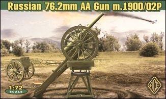 1/72 Russian 76.2mm Model 1900/02P Anti-Aircraft Gun - ACE 72265
