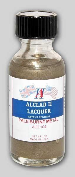 1oz. Bottle Pale Burnt Metal Lacquer - ALCLAD 104
