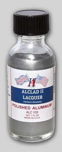 1oz. Bottle Polished Aluminum Lacquer - ALCLAD 105