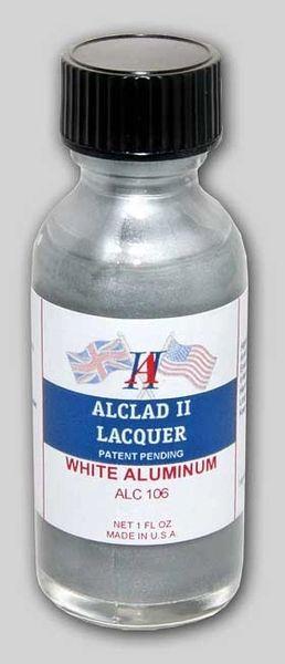 1oz. Bottle White Aluminum Lacquer - ALCLAD 106