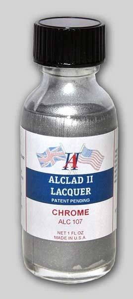 1oz. Bottle Chrome Lacquer for Plastic - ALCLAD 107