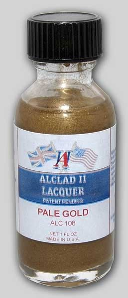1oz. Bottle Pale Gold Lacquer - ALCLAD 108
