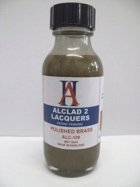 1oz. Bottle Polished Brass Lacquer - ALCLAD 109