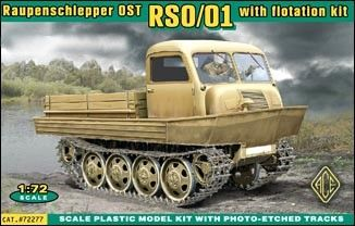 1/72 Raupenschlepper Ost (RSO) Type 1 WWII Tracked Vehicle w/Flotation - ACE 72277