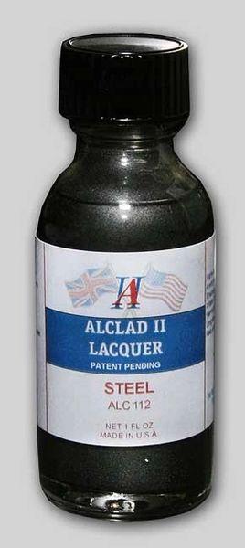 1oz. Bottle Steel Lacquer - ALCLAD 112