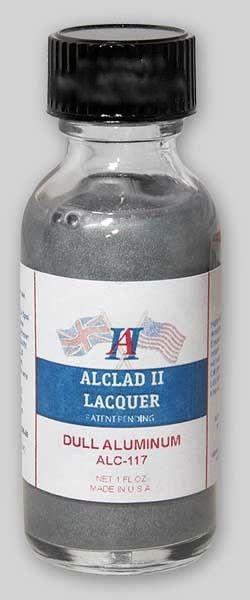 1oz. Bottle Dull Aluminum Lacquer - ALCLAD 117