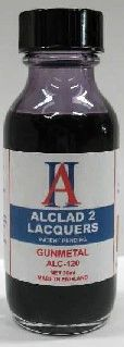 1oz. Bottle Gunmetal Lacquer - ALCLAD 120
