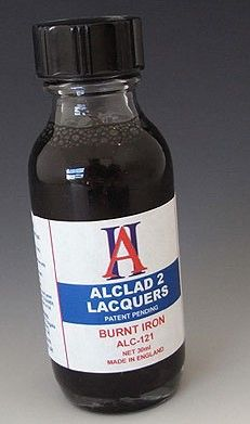 1oz. Bottle Burnt Iron Lacquer - ALCLAD 121