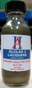 1oz. Bottle Mirrored Gold Lacquer for Lexan - ALCLAD 122