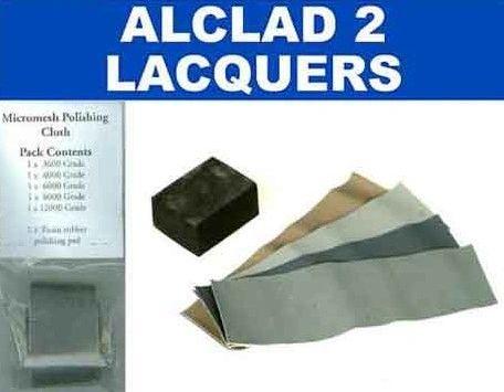 Micromesh Polishing Cloth Set (5 diff grades & rubber support block) - ALCLAD 301