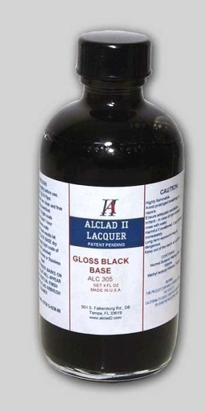 4oz. Bottle Gloss Black Base - ALCLAD 305