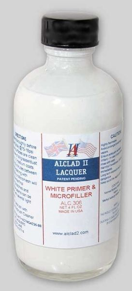 4oz. Bottle White Primer & Microfiller - ALCLAD 306