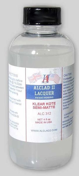 4oz. Bottle Clear Coat Semi-Matte - ALCLAD 312