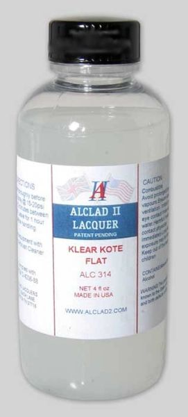 4oz. Bottle Clear Coat Flat - ALCLAD 314