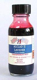 1oz. Bottle Transparent Red Lacquer - ALCLAD 401